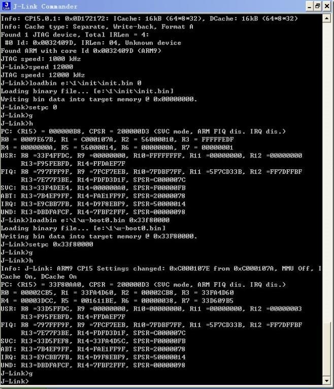 下载并运行特制的u-boot0.bin