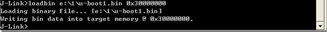 通过JLINK把u-boot1.bin下载到SDRAM中