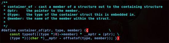 container_of()宏定义